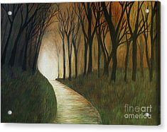 Acrylic Print featuring the painting Light The Path by Christy Saunders Church
