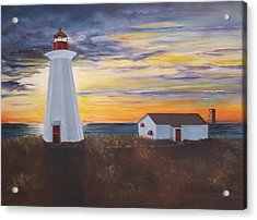 Acrylic Print featuring the painting Light The Way by Diane Daigle