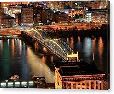 Lighted Bridge Acrylic Print