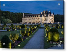Lighted Gardens Of Chenonceau Acrylic Print
