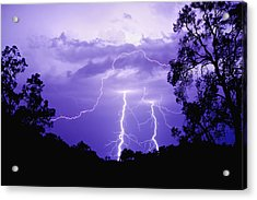 Lightening Bolts Acrylic Print by Michelle Wrighton