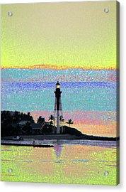 Luminous Florida Yellow At Hillsboro Lighthouse Acrylic Print