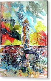 Lighthouse After Storm Acrylic Print by Kovacs Anna Brigitta