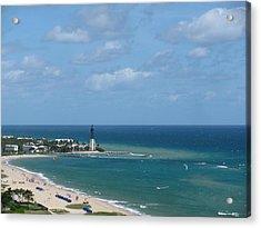Lighthouse And Kiteboarding Acrylic Print