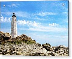 Lighthouse And Rocks Acrylic Print