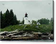 Lighthouse At Boothbay Harbor Acrylic Print by Lois Lepisto