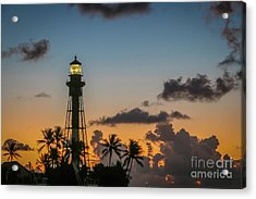 Acrylic Print featuring the photograph Lighthouse At Dawn #1 by Tom Claud