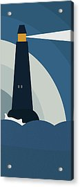Lighthouse At Night Acrylic Print