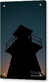 Lighthouse At Night Prince Edward Island Acrylic Print by Edward Fielding