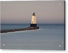 Lighthouse At Sunset Acrylic Print by Chuck Bailey