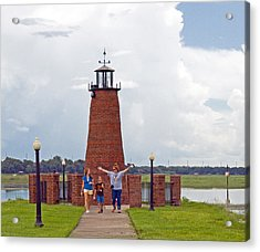 Lighthouse At The Port Of Kissimmee On Lake Tohopekaliga In Central Florida Acrylic Print by Allan  Hughes