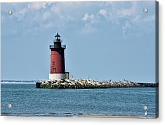 Acrylic Print featuring the photograph Delaware Breakwater East End Lighthouse - Lewes Delaware by Brendan Reals