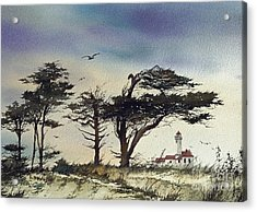 Acrylic Print featuring the painting Lighthouse Coast by James Williamson