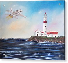 Lighthouse Fly By Acrylic Print by Tony Rodriguez