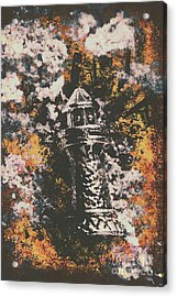 Lighthouse From Rust Harbour Acrylic Print