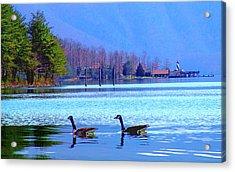 Lighthouse Geese, Smith Mountain Lake Acrylic Print
