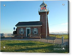 lighthouse in Santa Cruz Acrylic Print by Garnett  Jaeger