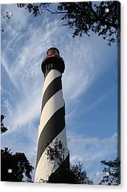 Lighthouse In St. Augustine Acrylic Print by Kimberly Camacho