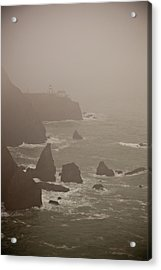 Lighthouse In The Fog Acrylic Print by Patrick  Flynn