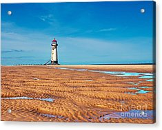 Lighthouse In The Sun  Acrylic Print