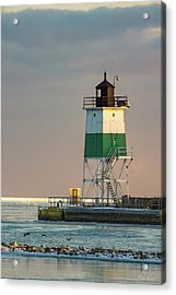 Lighthouse In The Sunset Acrylic Print