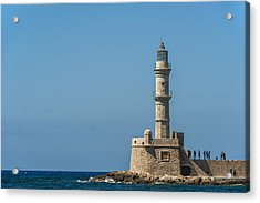 Lighthouse In The Venetian Harbour Acrylic Print by Dosfotos