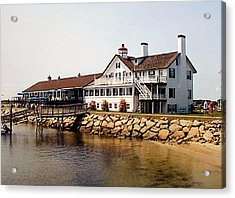 Acrylic Print featuring the photograph Lighthouse Inn At Bass River by Frederic Kohli