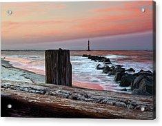 Lighthouse Jetties Acrylic Print