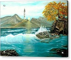 Lighthouse Acrylic Print by Kenneth LePoidevin