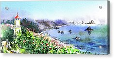 Lighthouse Landscape Watercolor Acrylic Print