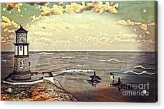 Lighthouse Lookout Acrylic Print by Methune Hively