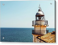 Lighthouse Of Papa Luna Castle In Peniscola, Spain Acrylic Print
