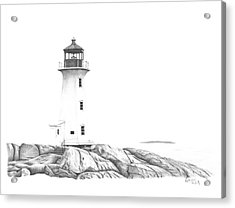 Lighthouse Of Peggy's Cove Acrylic Print