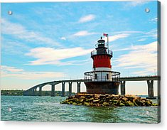 Lighthouse On A Small Island Acrylic Print