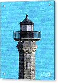 Lighthouse On Blue Acrylic Print