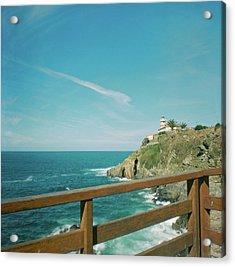 Lighthouse Over The Ocean Acrylic Print