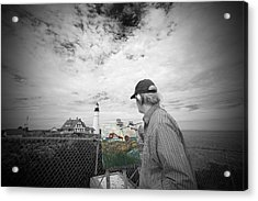 Lighthouse Painter Acrylic Print