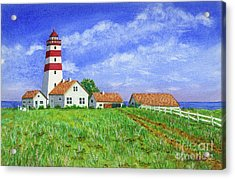 Lighthouse Pasture Acrylic Print