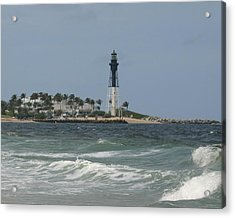 Lighthouse Point Fl. Acrylic Print by Dennis Curry