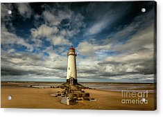 Lighthouse Point Of Ayre Acrylic Print by Adrian Evans