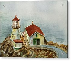 Lighthouse Point Reyes California Acrylic Print by Irina Sztukowski