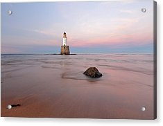 Acrylic Print featuring the photograph Lighthouse Sunset Rattray Head by Grant Glendinning