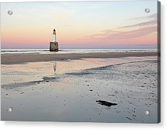 Acrylic Print featuring the photograph Lighthouse Sunset - Rattray Head by Grant Glendinning