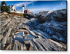 Lighthouse Reflections Acrylic Print by George Oze