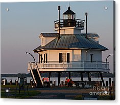 Lighthouse  St.michaels Md Acrylic Print by Louise Peardon