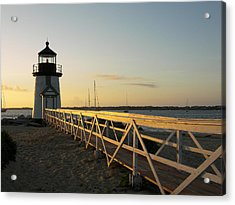 Lighthouse Sunrise Acrylic Print by Mark Siciliano