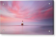 Acrylic Print featuring the photograph Lighthouse Sunset by Grant Glendinning