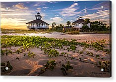 Lighthouse Sunset Acrylic Print by Marvin Spates