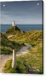 Lighthouse Twr Mawr Acrylic Print by Adrian Evans