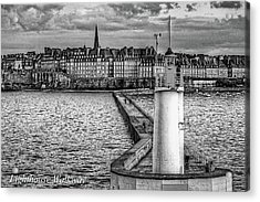 Acrylic Print featuring the photograph Lighthouse Walkway by Elf Evans